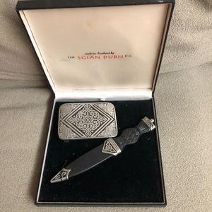 Scottish Belt Buckle /Sgian Dubh Gift Set